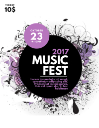 Music Fest Flyer template