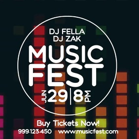 Music Fest Online Event Electronic Party Ad
