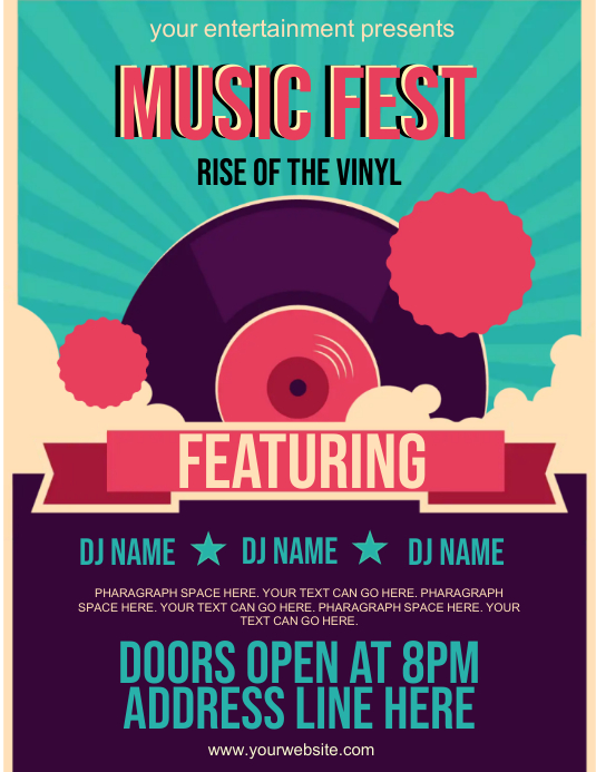 MUSIC FEST party event FLYER TEMPLATE