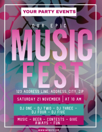 Music Festival ad Flyer Template