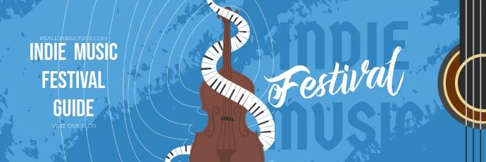 Music Festival Band Twitter Banner template