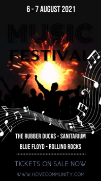 Music Festival Digital Template Digitalt display (9:16)