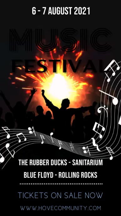 Music Festival Digital Template Display digitale (9:16)