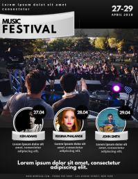 Music Festival Event Concert Flyer Template