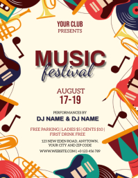 MUSIC FESTIVAL EVENT FLYER TEMPLATE