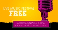 Music Festival Event Social Media Banner Facebook begivenhed cover template