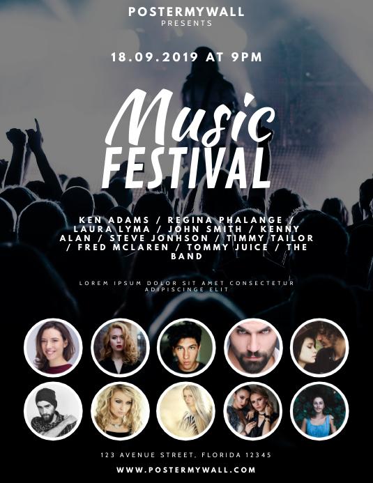 Music Festival Flyer Design Template