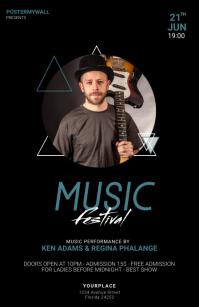 Music Festival Flyer Design Template Tabloid