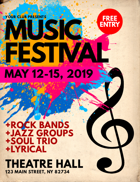 Music Festival Flyer Template  Postermywall