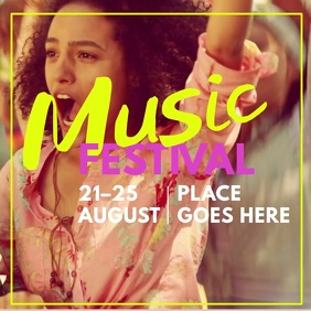 Music Festival Instagram Video Template