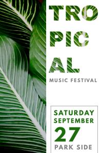 Music Festival Modern Poster Design