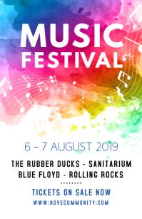 Music Festival Modern Poster Template