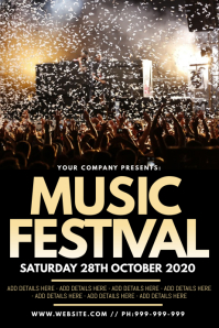 Music Festival Poster Cartaz template