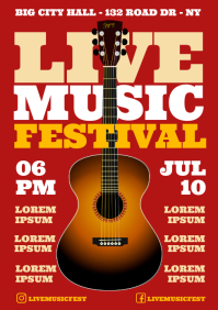 MUSIC FESTIVAL POSTER A4 template