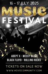 Music Festival Poster Template Tabloid