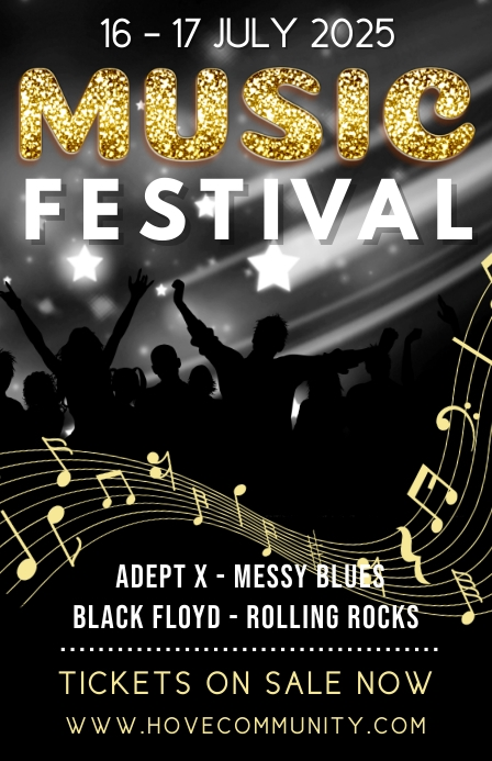 Music Festival Poster Template Tabloide
