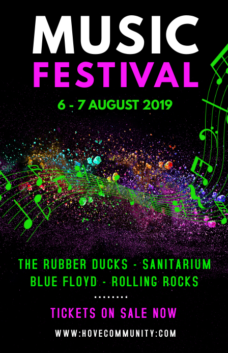 copy of music festival poster template