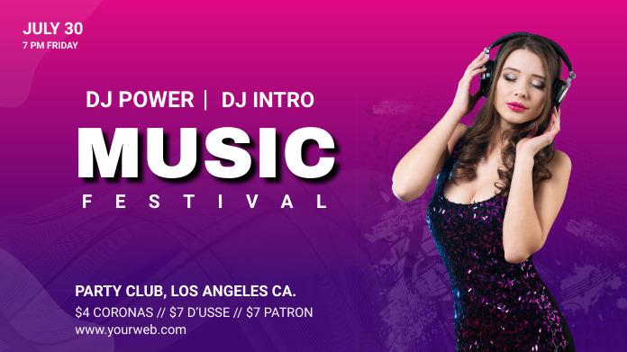 Music Festival social medial post template