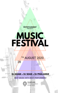 Music Festival Tabloid Template