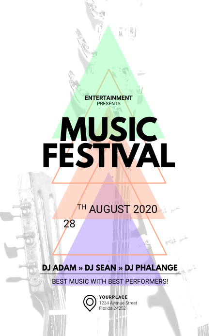 Music Festival Tabloid Template แทบลอยด์