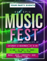 Music Festival Video ad Flyer Template