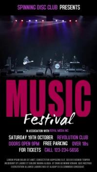 Music Festival Vidro Template