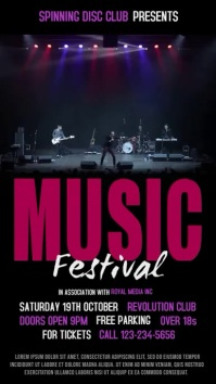 Music Festival Vidro Template Digitale Vertoning (9:16)