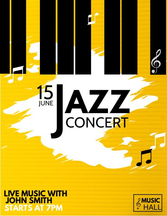 Music flyer, Event flyer, Concert flyer
