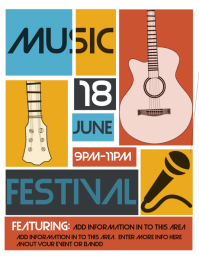 Customizable Design Templates for Music Festival Flyer | PosterMyWall