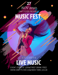 Music flyer templates