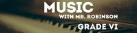 Music Google Classroom Banner template