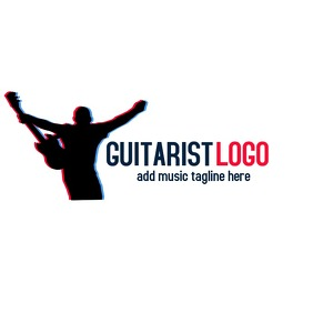 Music guitarist logo
