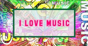 Music header foe social media Imagen Compartida en Facebook template
