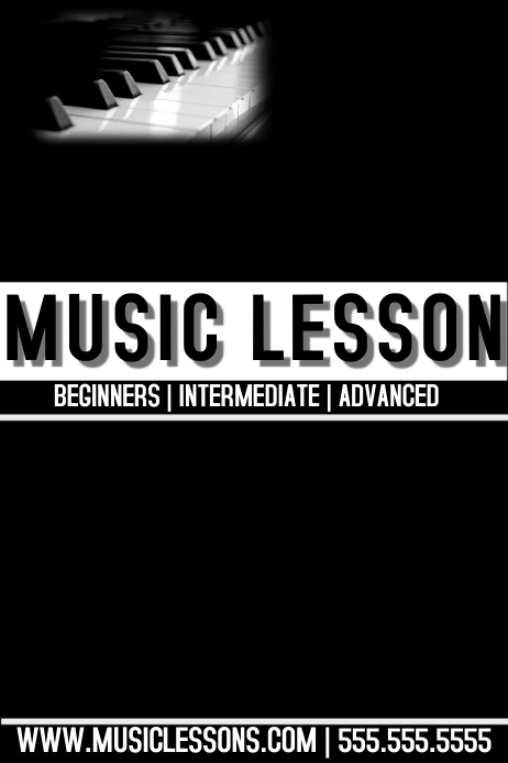 music lesson template postermywall