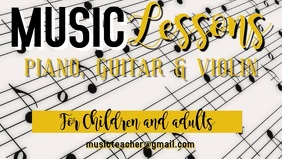 Music Lessons Ad Video Template