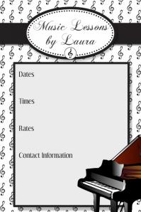 Customizable design templates for invitation announcement poster music lessons camp recital flyer poster invitation template thecheapjerseys Images