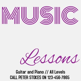 Music Lessons Digital Ad Template