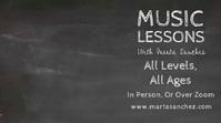 Music Lessons Doodle Video Template Digitale Vertoning (16:9)