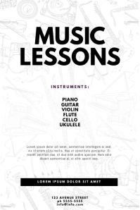 Music Lessons Flyer Template