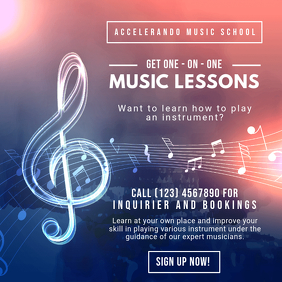 Music Lessons Instagram Post Template