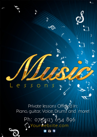Music Lessons Poster