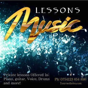 Music lessons Template