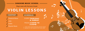 Music Lessons Tuition Service Banner