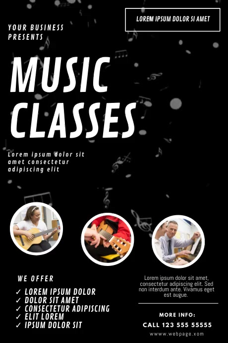 Music Lessons Video ad template Poster