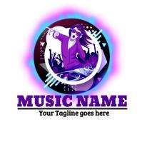 music logo, concert logo, band logo, event template