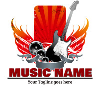 music logo, concert logo, event logo, Logótipo template