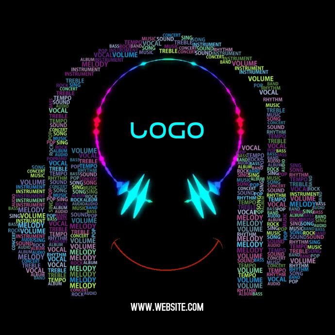 MUSIC LOGO Квадрат (1 : 1) template