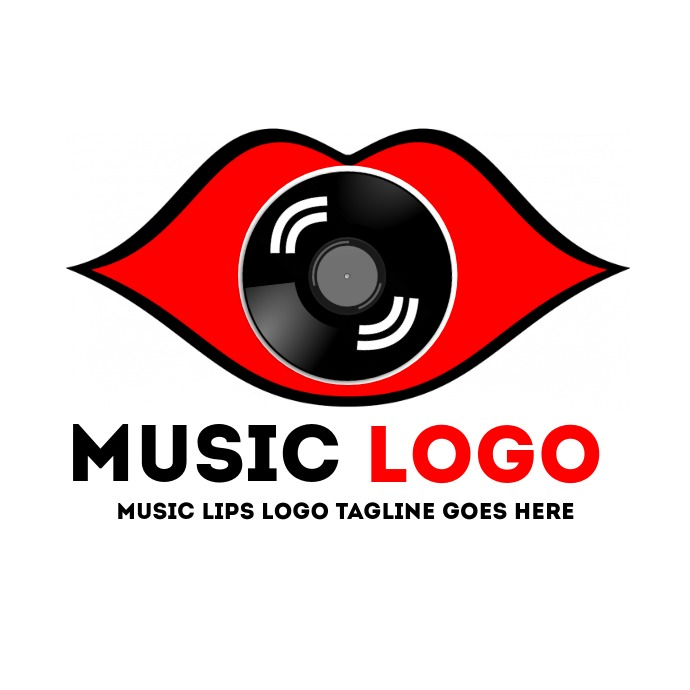 Music logo kiss template