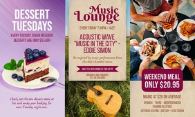 Music Lounge Table Talker template