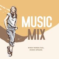 Music Mix Album Cover 专辑封面 template